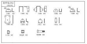 CR-K7100 Metallteile Blattfedern Befestigung für den KC6