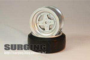 SURSDW-7303 - Surging 4-Speichen Type II Felgen 1:10 Offset 3mm silber